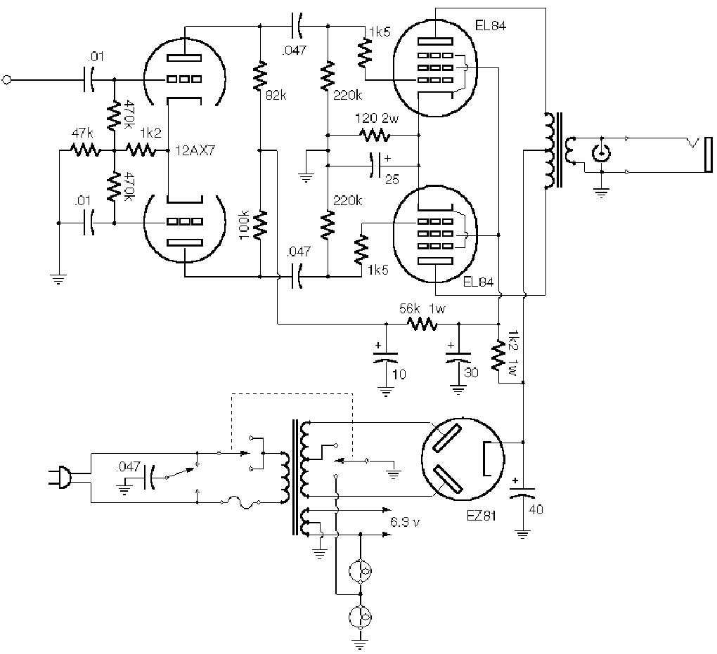 vox ac30 sch service manual free download  schematics