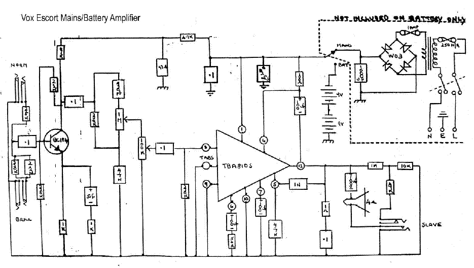 upgrading the op-amp in a vox escort mains