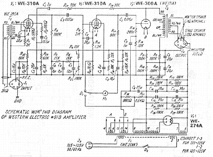 Western Electric 91 B Amplifier Sch Service Manual Download
