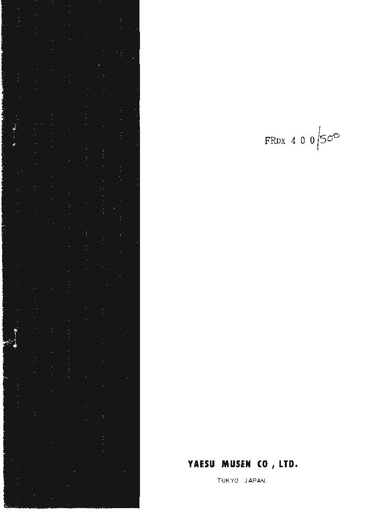 YAESU FRDX 400 FRDX 500 SM service manual (1st page)