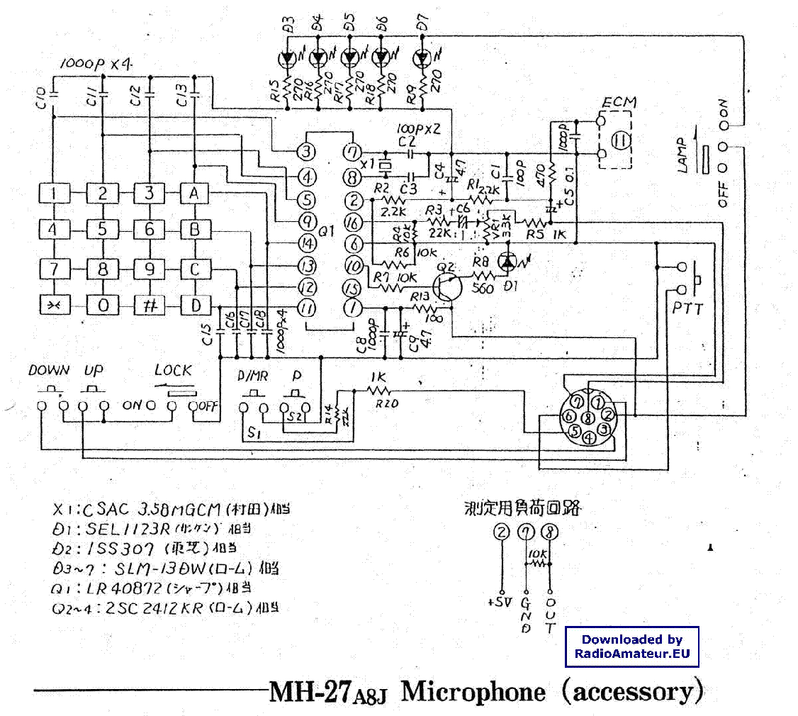 Yaesu Microphone Wiring Diagram Schematic Diagrams Turner Mh 27 Circuit Connection U2022 Astatic Mic