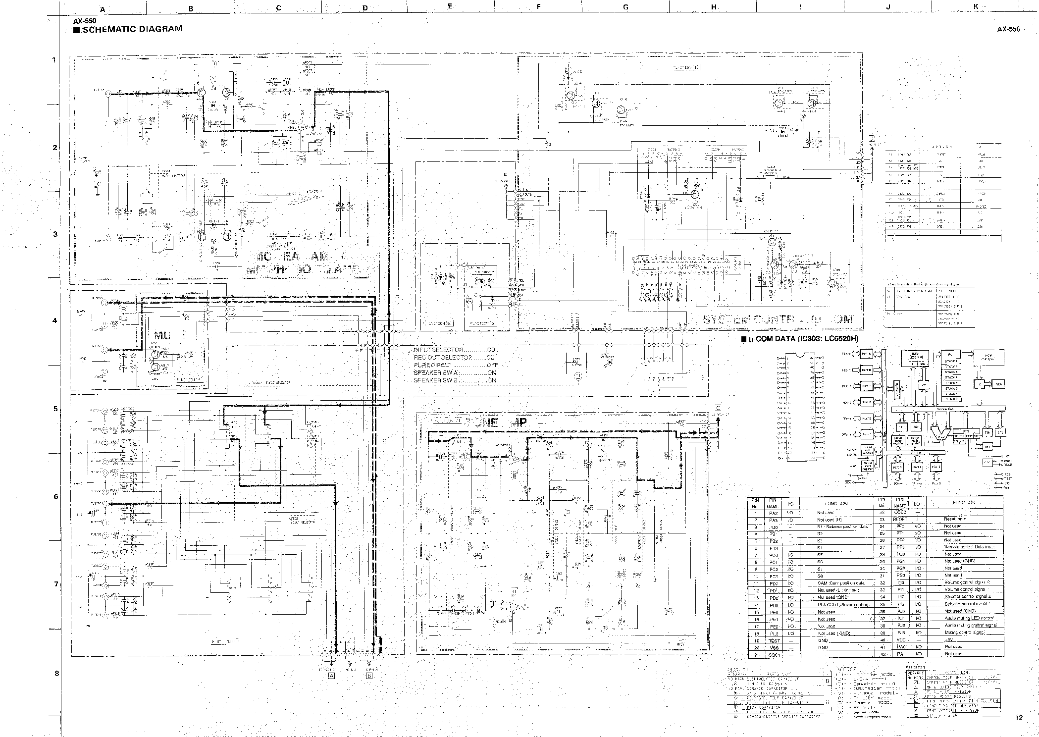 schematic diagram yamaha p7000s