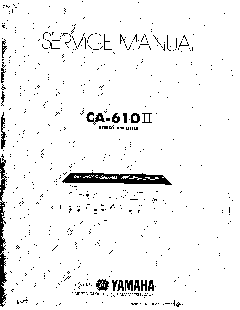 YAMAHA CA-610II service manual