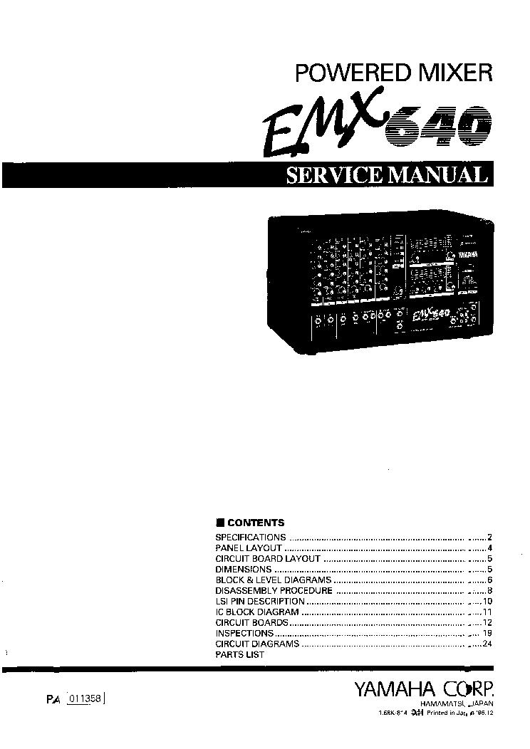 Yamaha Emxsc Manual Pdf