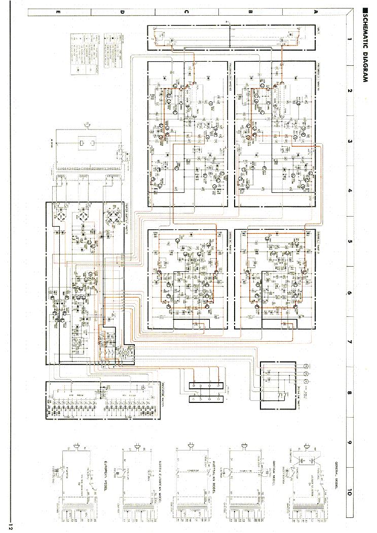 YAMAHA M4 POWER AMPLIFIER SCH Service Manual download