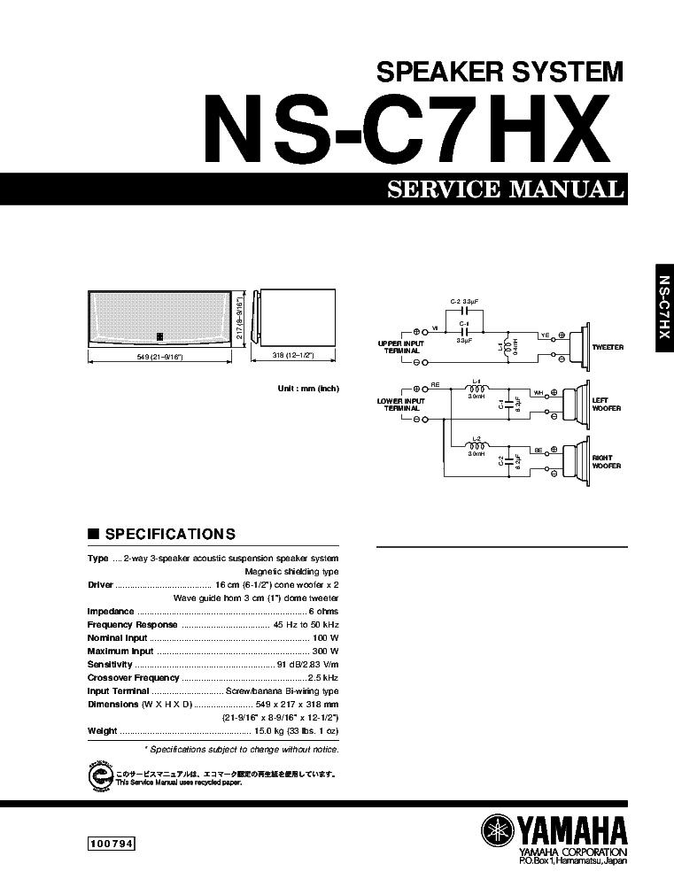Yamaha Mg16 6fx Sm Service Manual Free Download