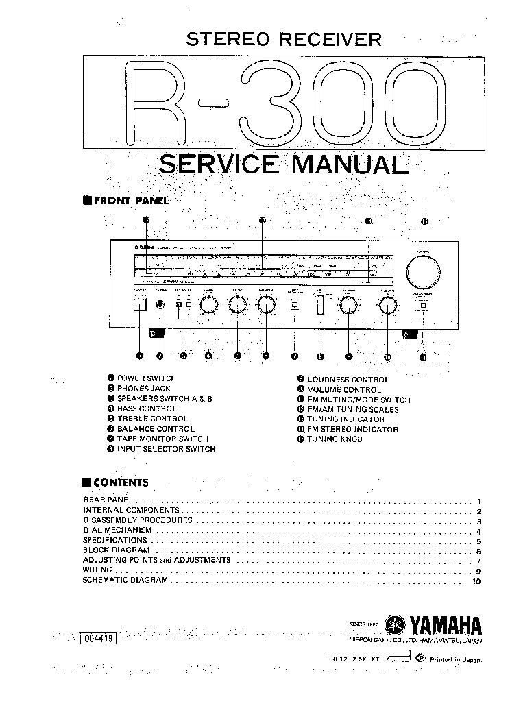 yamaha r 300 receiver service manual download schematics eeprom rh elektrotanya com Yamaha ATV Wiring Diagram 2013 yamaha grizzly 300 wiring diagram
