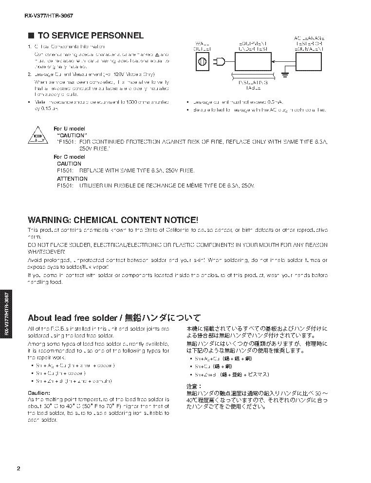 YAMAHA RX-V377 HTR-3067 SM Service Manual download