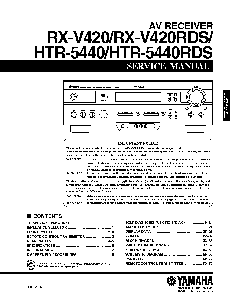 How To Connect Yamaha Rx V Htr