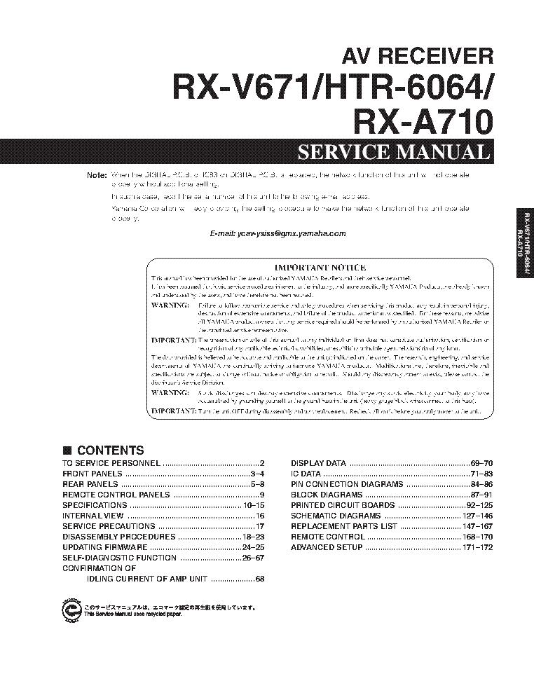 Yamaha htr-6063 manual audio video receiver hifi engine.