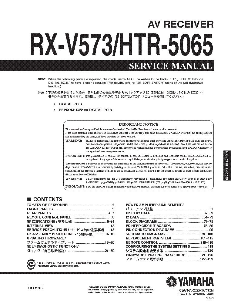 yamaha rx v573 htr 5065 service manual download schematics eeprom rh elektrotanya com