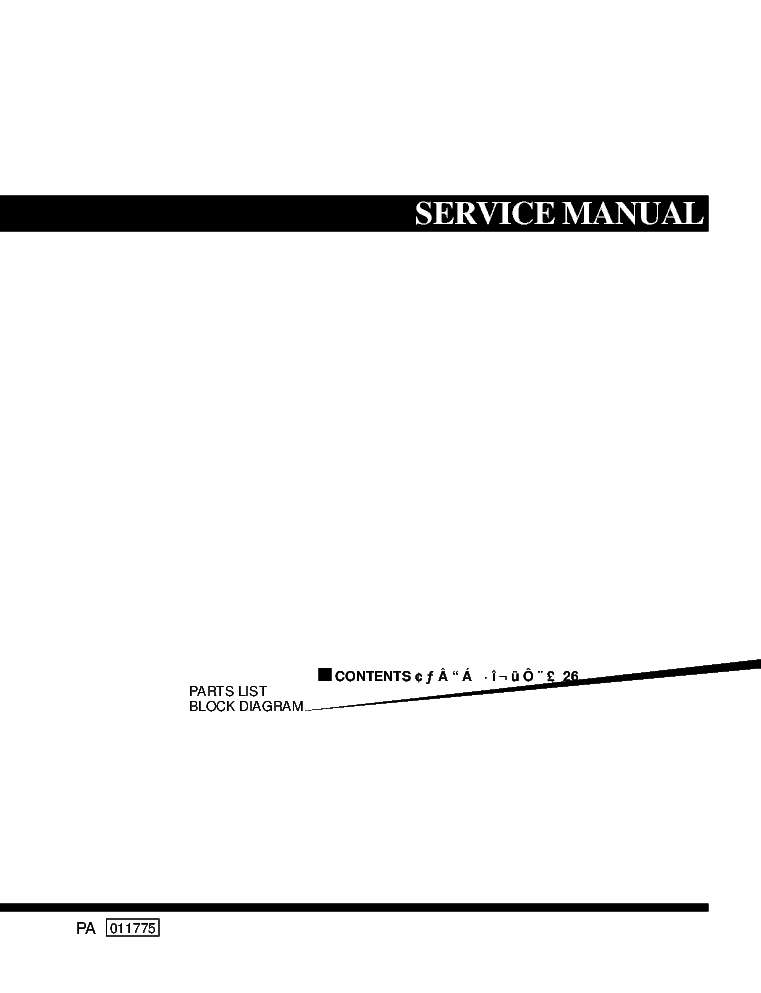 YAMAHA STAGEPAS 300 service manual (1st page)