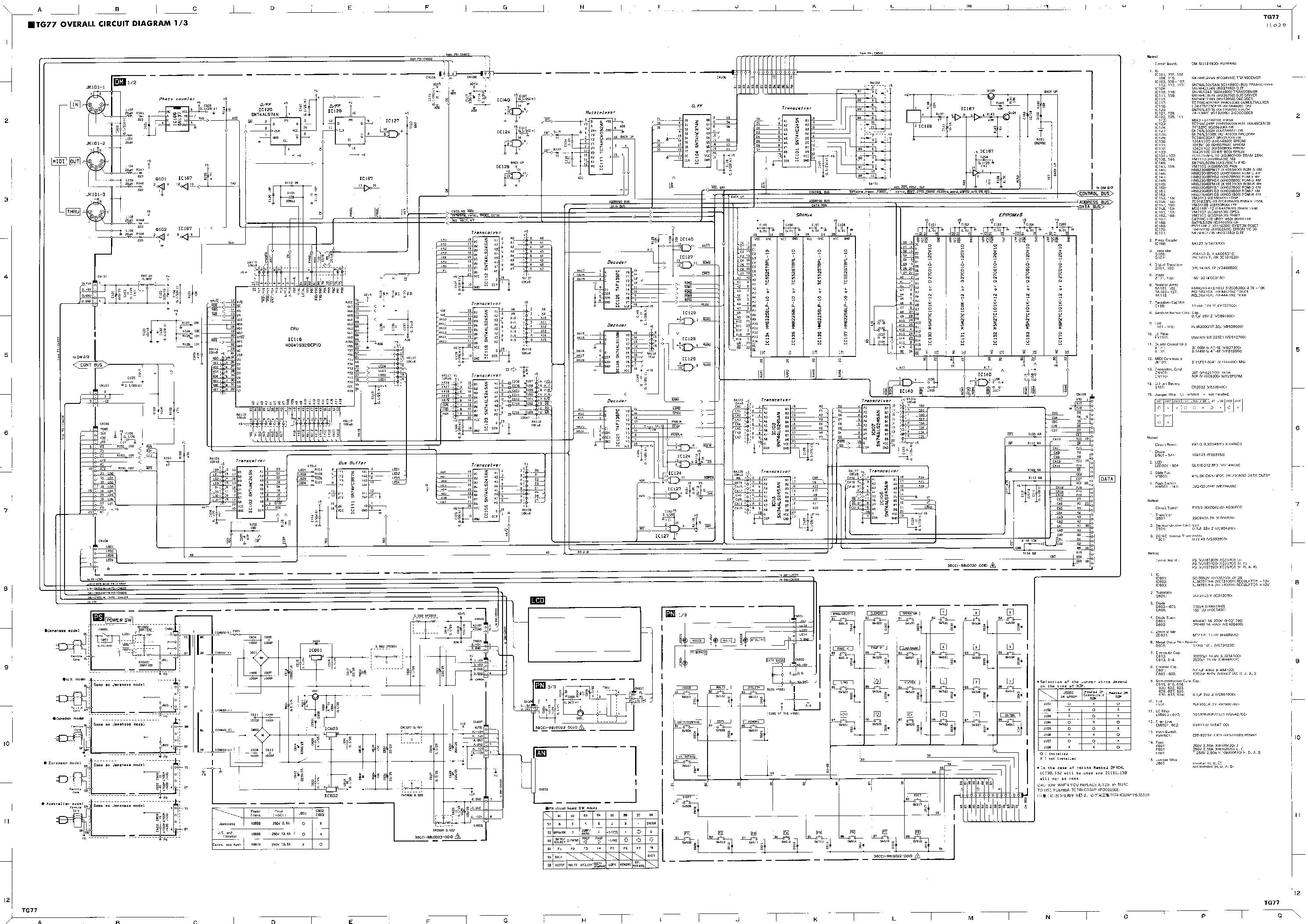YAMAHA PM3500 SM Service Manual download, schematics, eeprom, repair