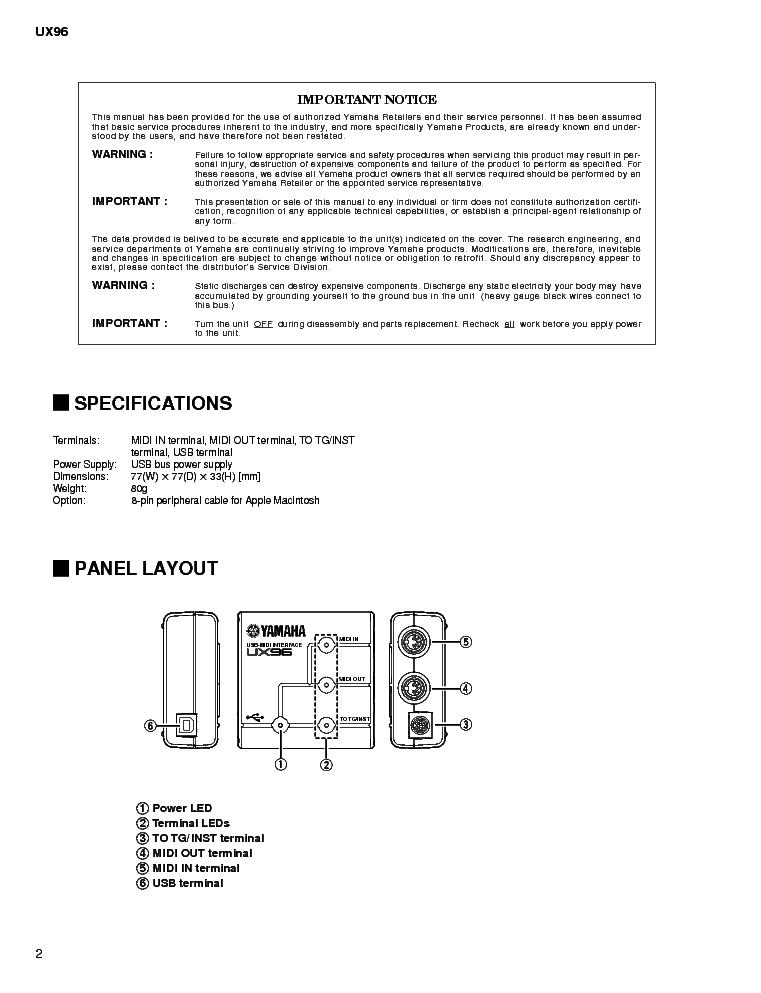 YAMAHA UX96 DRIVERS FOR WINDOWS 10