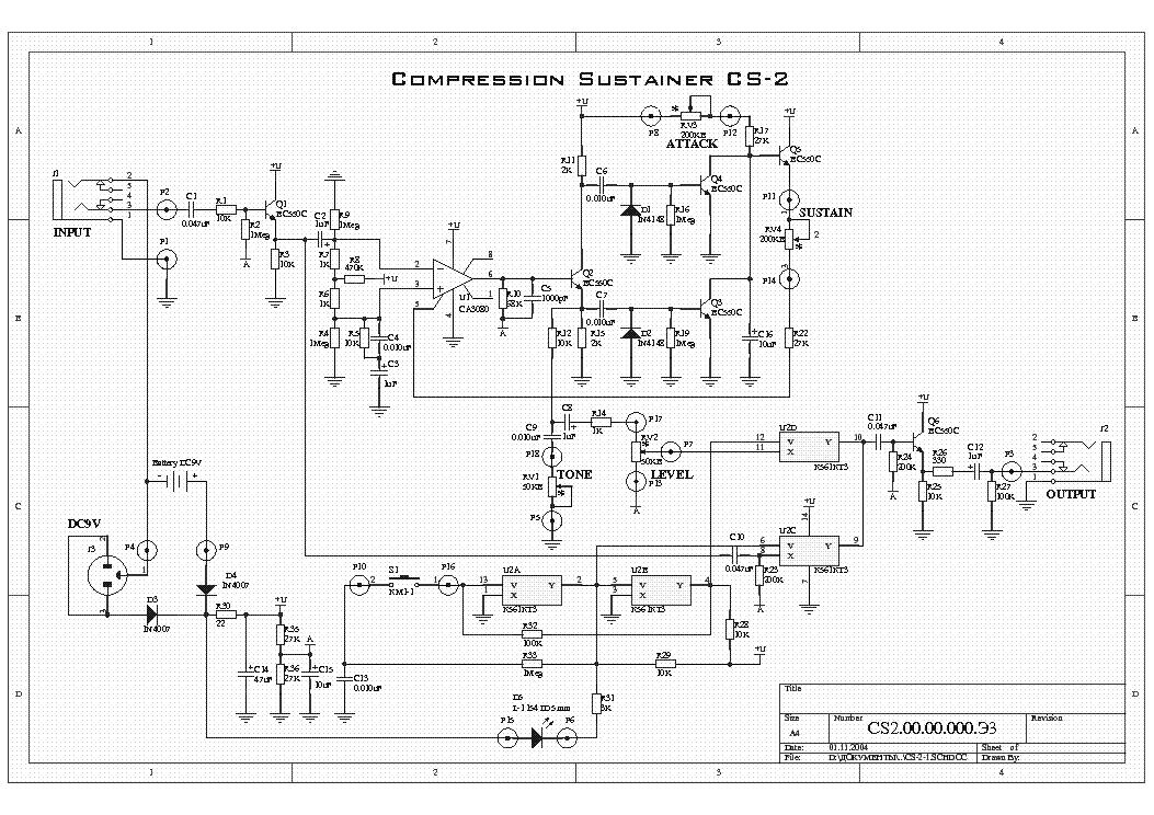 Yerasov Cw 2 Control Pedal Wah Service Manual Download Schematics