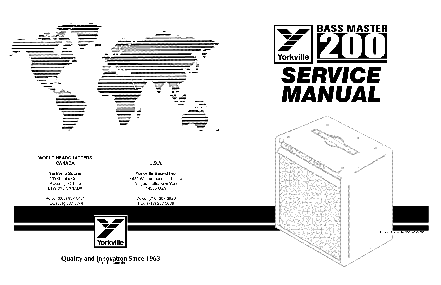 YORKVILLE BASS MASTER 200 service manual (1st page)