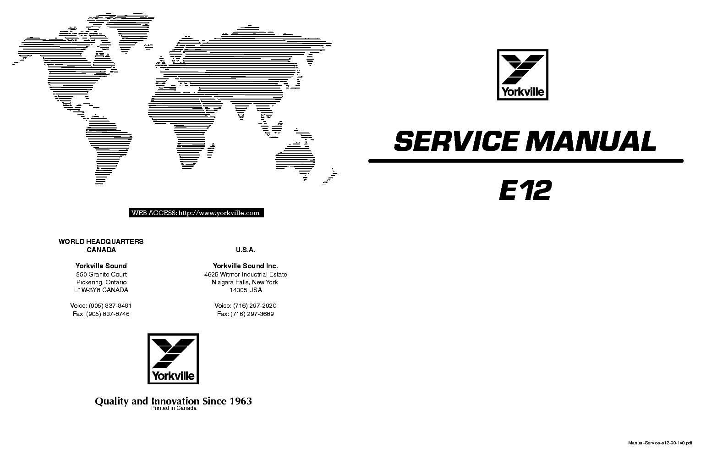 Repair manual e12 pdf nissan navara service repair manuals yorkville e12 service manual 1st page yorkville e12 service manual download schematics eeprom repair rh fandeluxe Gallery