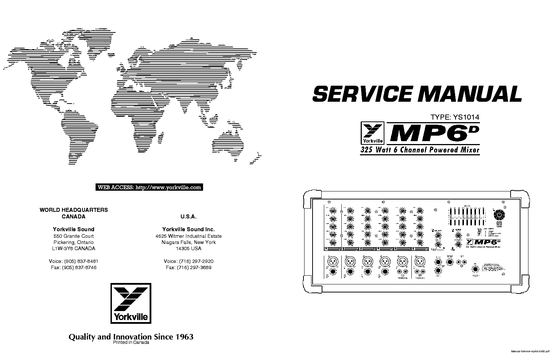 Yorkville Mp6d Service Manual Download  Schematics  Eeprom