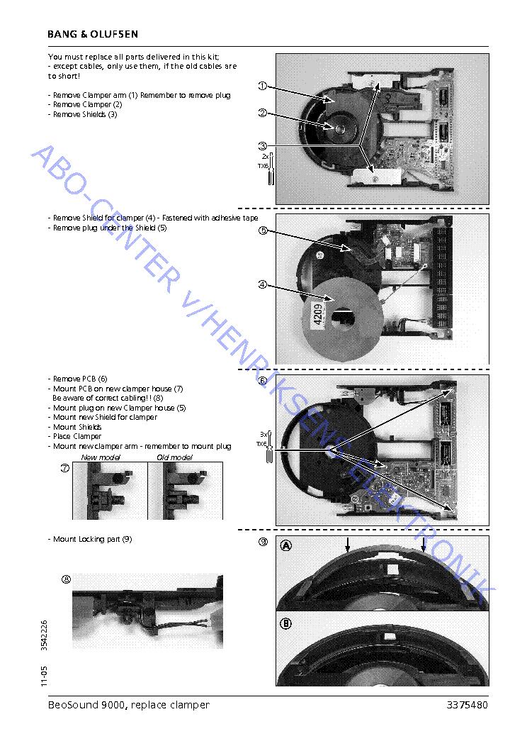 bang olufsen beosound 9000 replace clamper service manual download rh elektrotanya com Manual Book Owner's Manual
