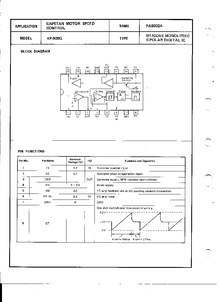 PIONEER INTEGRATED CIRCUIT TECHNICAL DATA VOL2 service manual (2nd page)