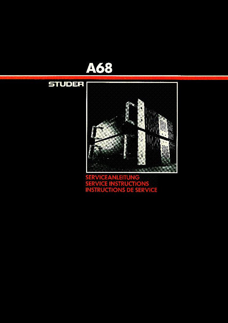 Studer A68 Service