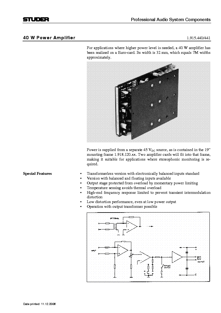 Studer Component 1 915 307