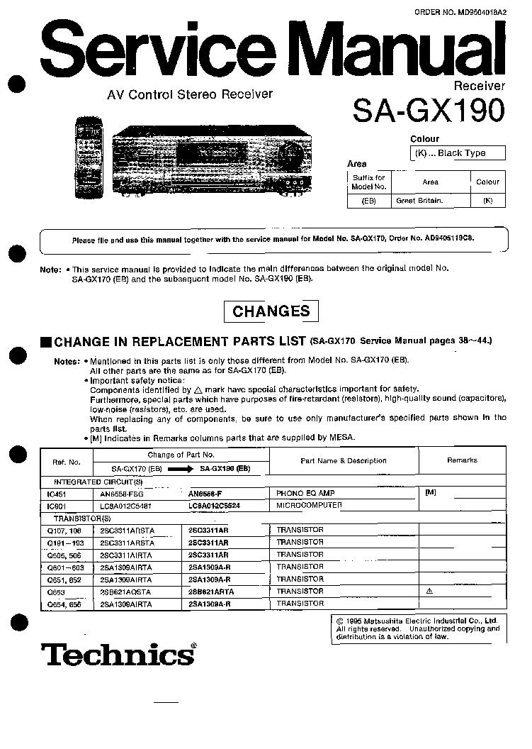 WRG-7297] Technics Su Z960 Wiring Diagram