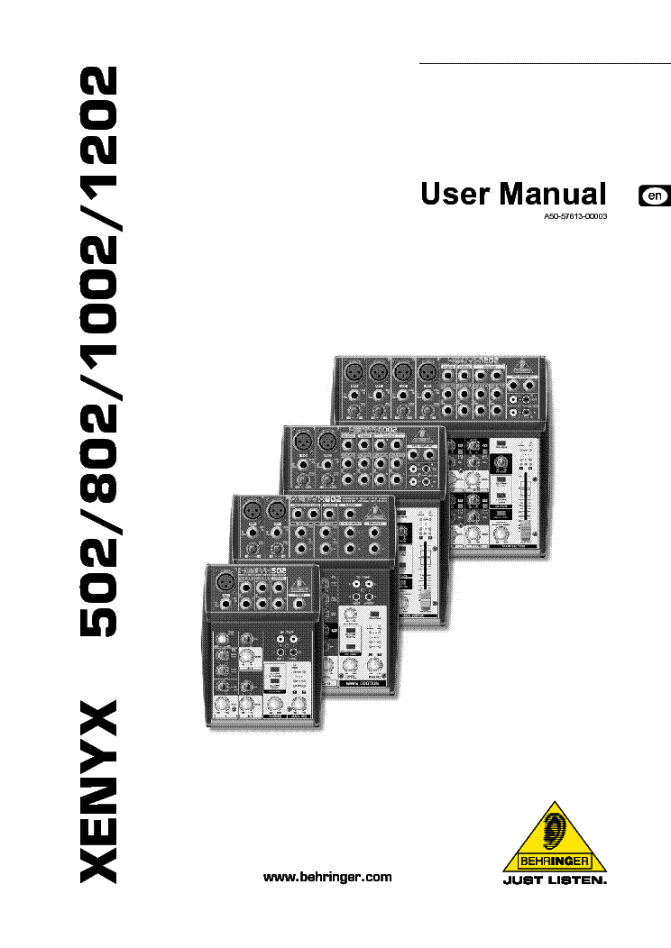 Behringer Xenyx 502 802 1002 1202 Service Manual Free