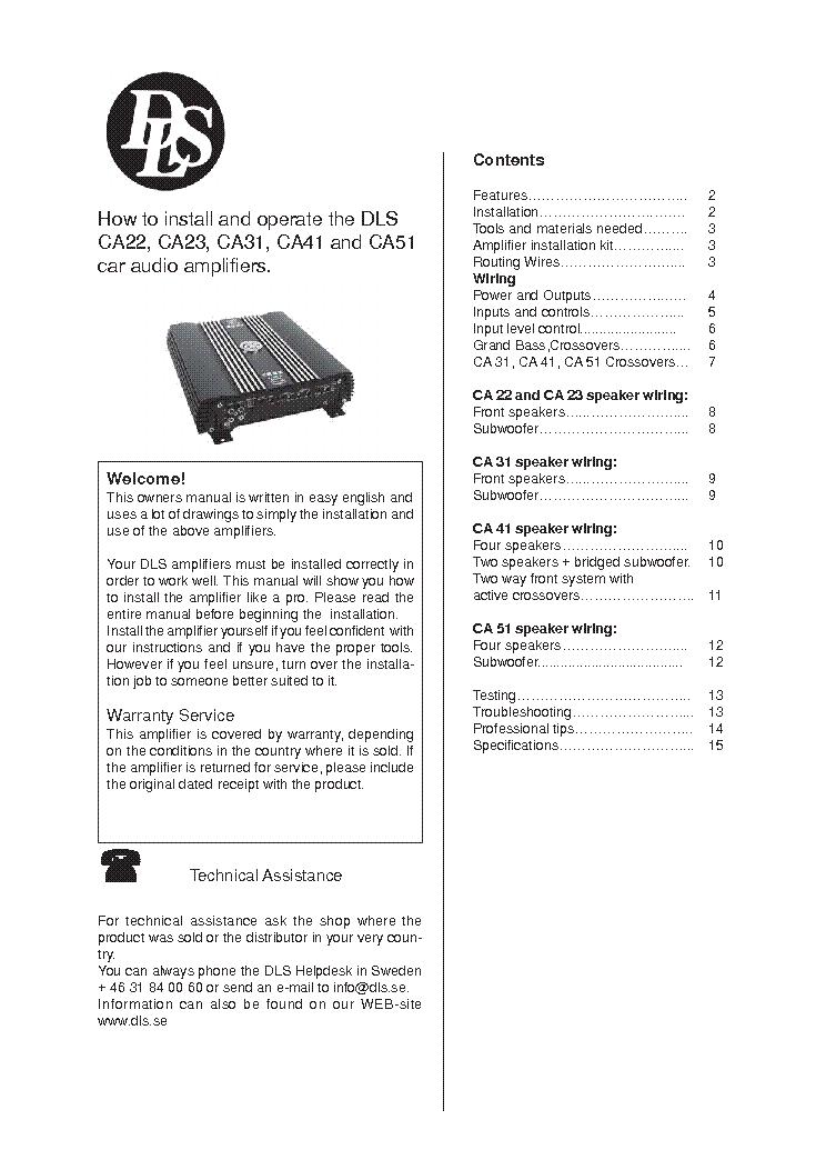 Soundstandard Ca20 Service Manual