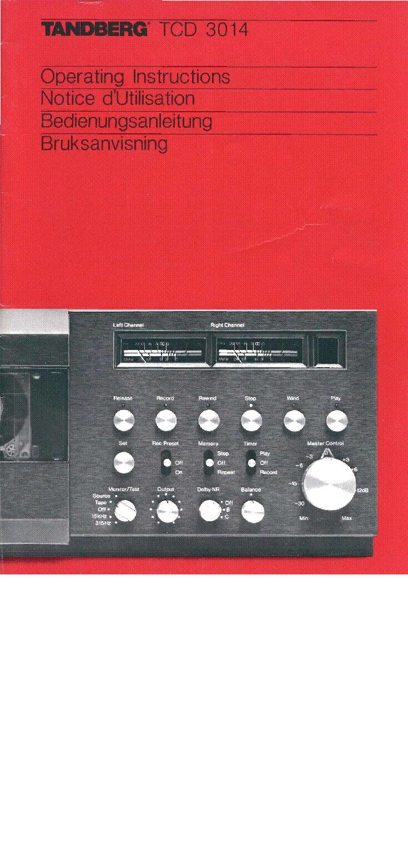 Tandberg Tcd 3014 Operating Block