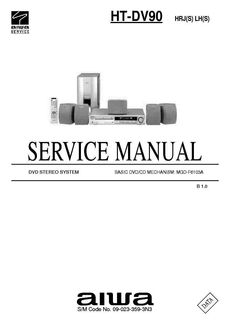 Aiwa Ht Dv90 Service Manual Download  Schematics  Eeprom