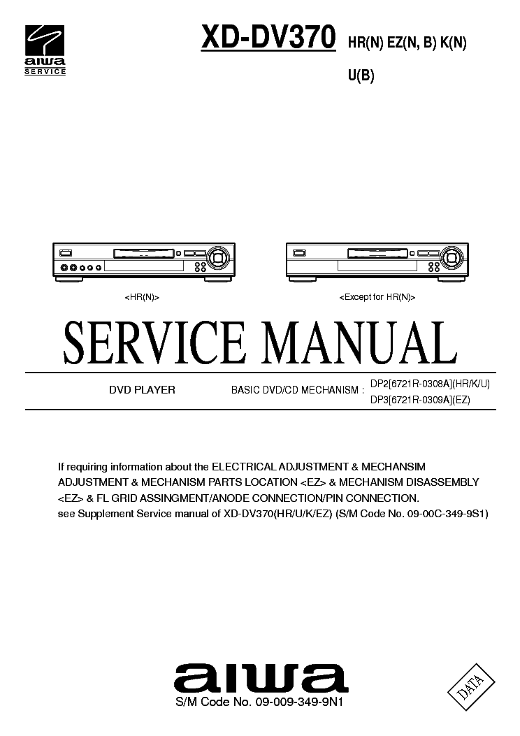 Aiwa Xd Dv370 Service Manual Download Schematics Eeprom Repair Info For Electronics Experts