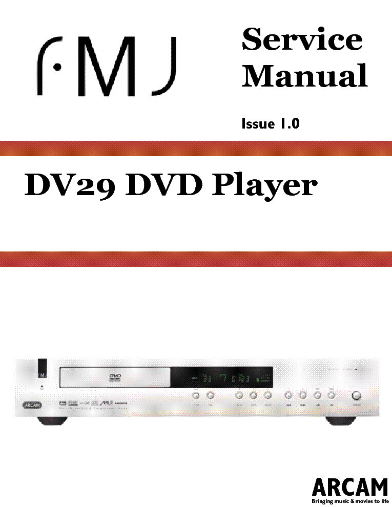 arcam dv135 dv137 dv139 sch service manual free download