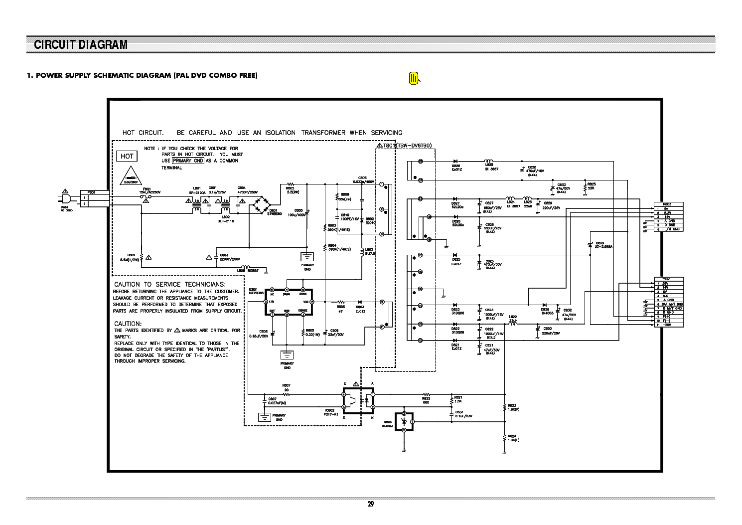 Daewoo Sd 8100 Sch Service Manual Download Schematics
