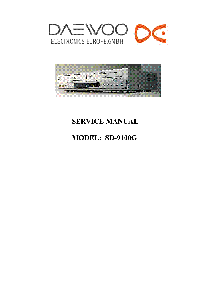 daewoo sd 9100g service manual free download schematics. Black Bedroom Furniture Sets. Home Design Ideas