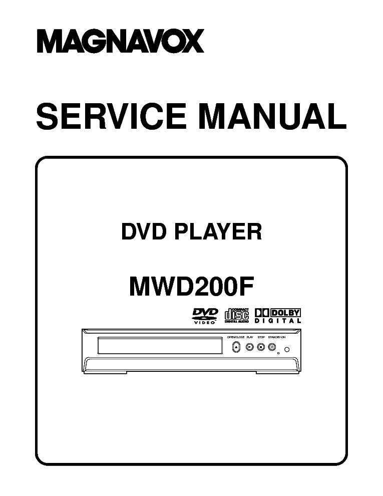 magnavox mwr20v6 dvd vcr recorder service manual download  schematics  eeprom  repair info for Magnavox MWR20V6 User Manual DVD Manual Recorder Magnavox D2563324.9A