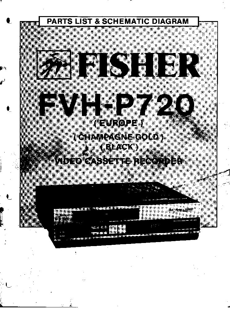 Fisher Fvh P720 Vcr Service Manual Download Schematics Eeprom