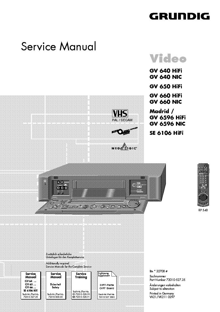 Grundig Vhs Gv 640