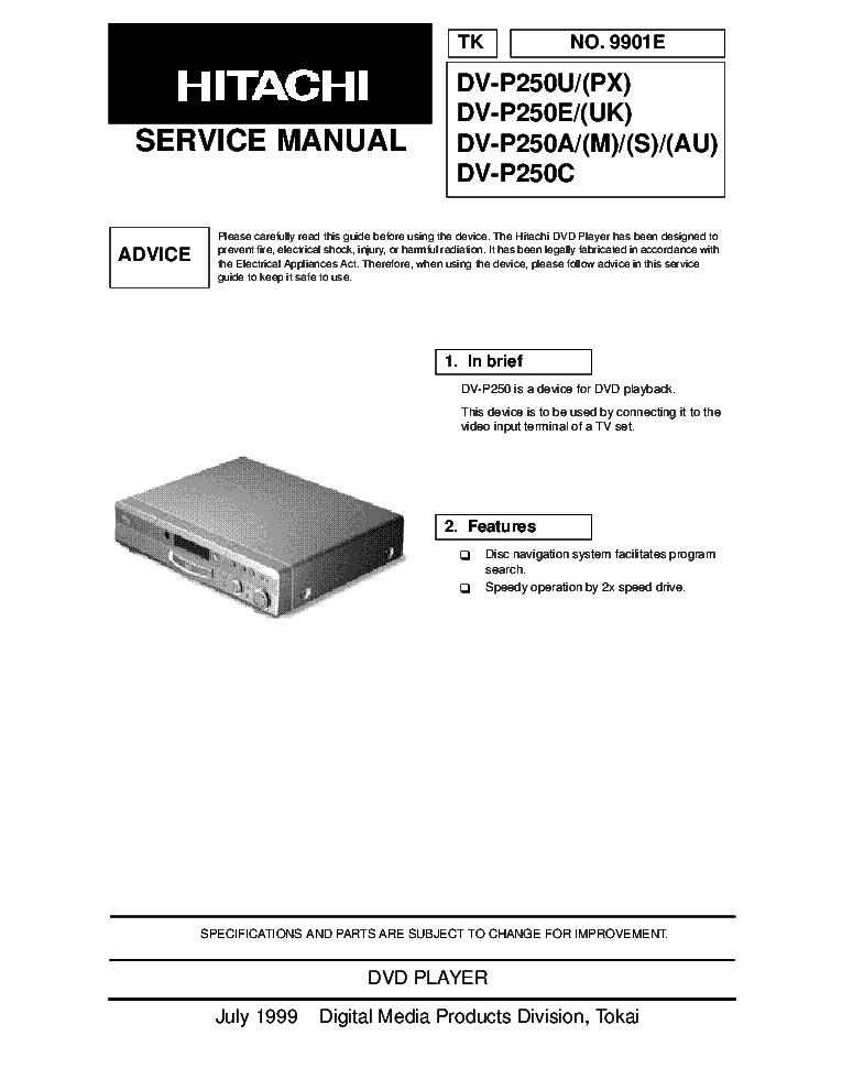 Hitachi Vt P208 Gk I Iu Mecha Us Sm Service Manual Download Schematics Eeprom Repair Info For Electronics Experts