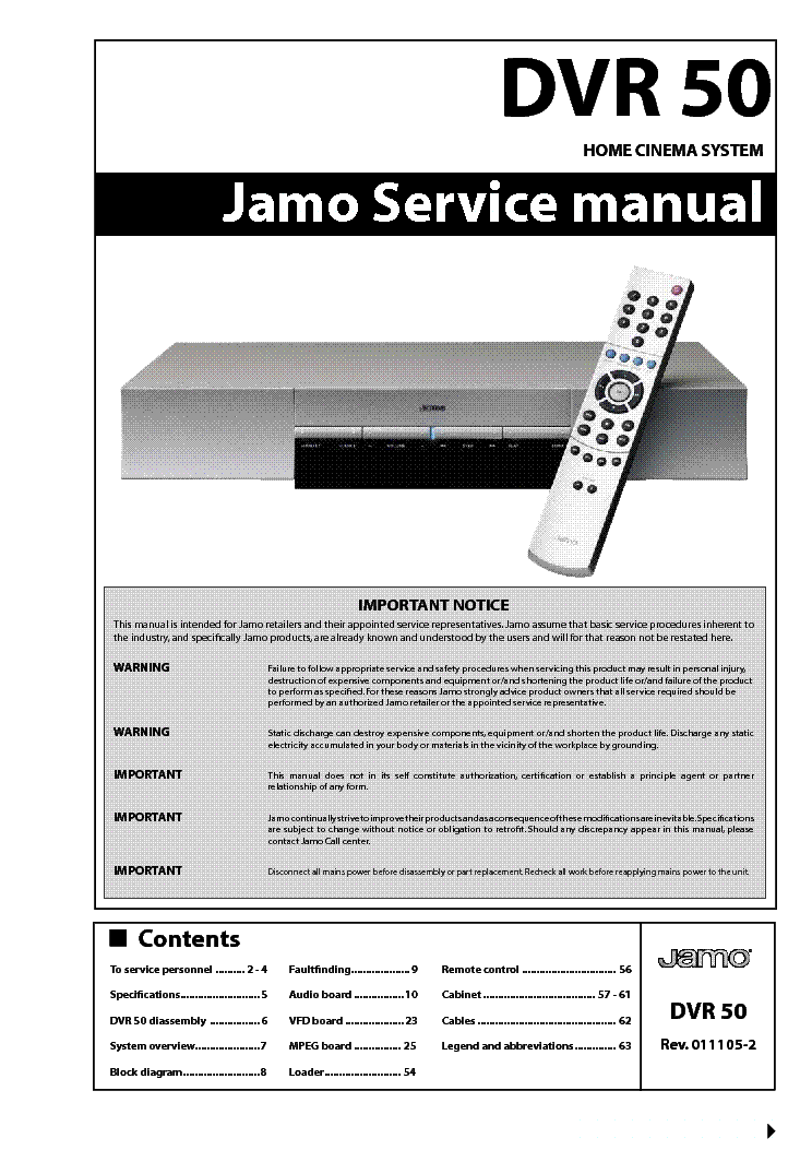 Jamo DVR-50 Drivers for Windows