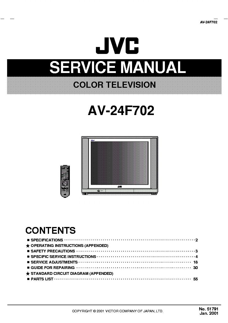JVC AV-24F702 service manual