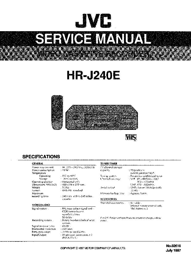 jvc hr j240e vcr service manual download schematics eeprom repair rh elektrotanya com jvc sqpb vcr manual jvc vcr manual hr a591u