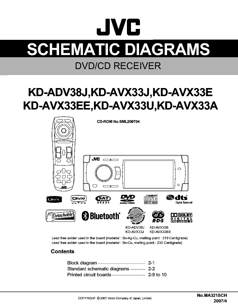 Jvc Kdavx33 Sm Service Manual Download Schematics Eeprom
