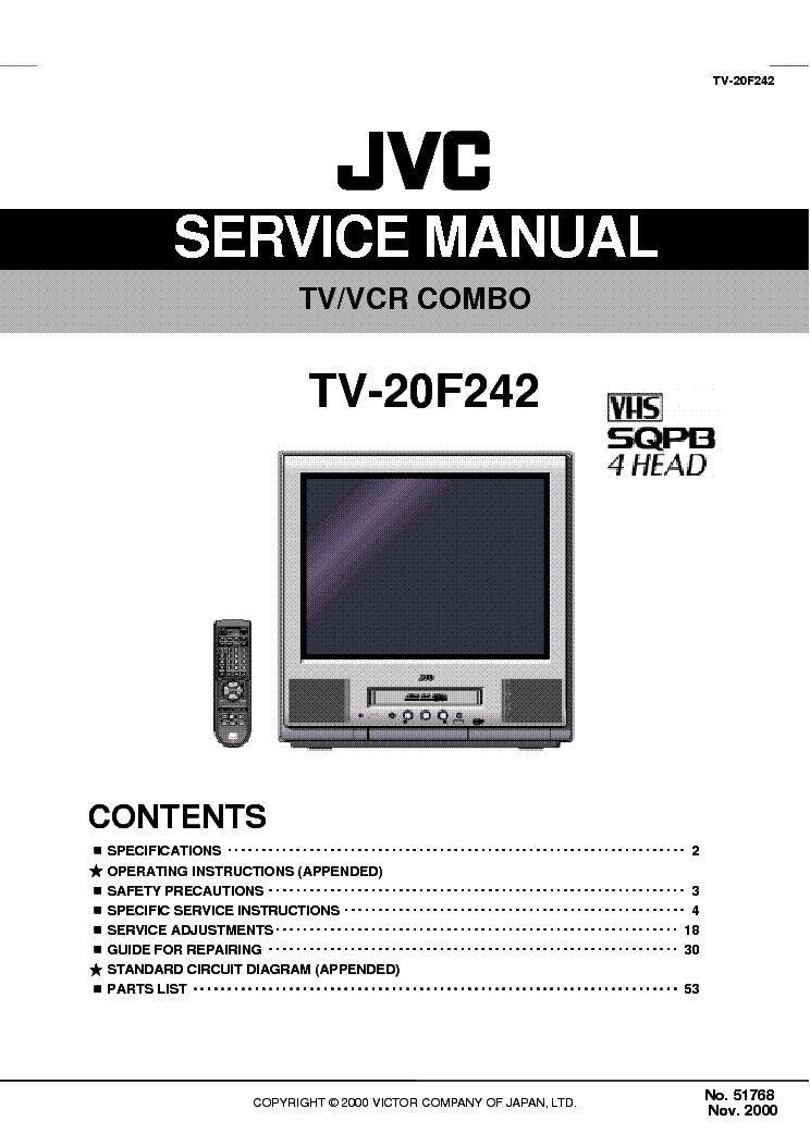 Admirable Jvc Tv 20F242 Crt Tv Vcr Combo Service Manual Download Schematics Wiring 101 Mecadwellnesstrialsorg
