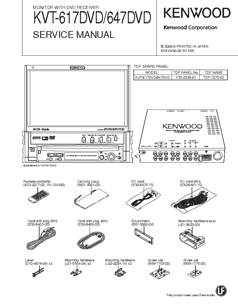 kenwood kvt 815 wiring diagram kenwood kvt-617 kvt-647 service manual download ... kenwood kvt 514 wiring diagram #6