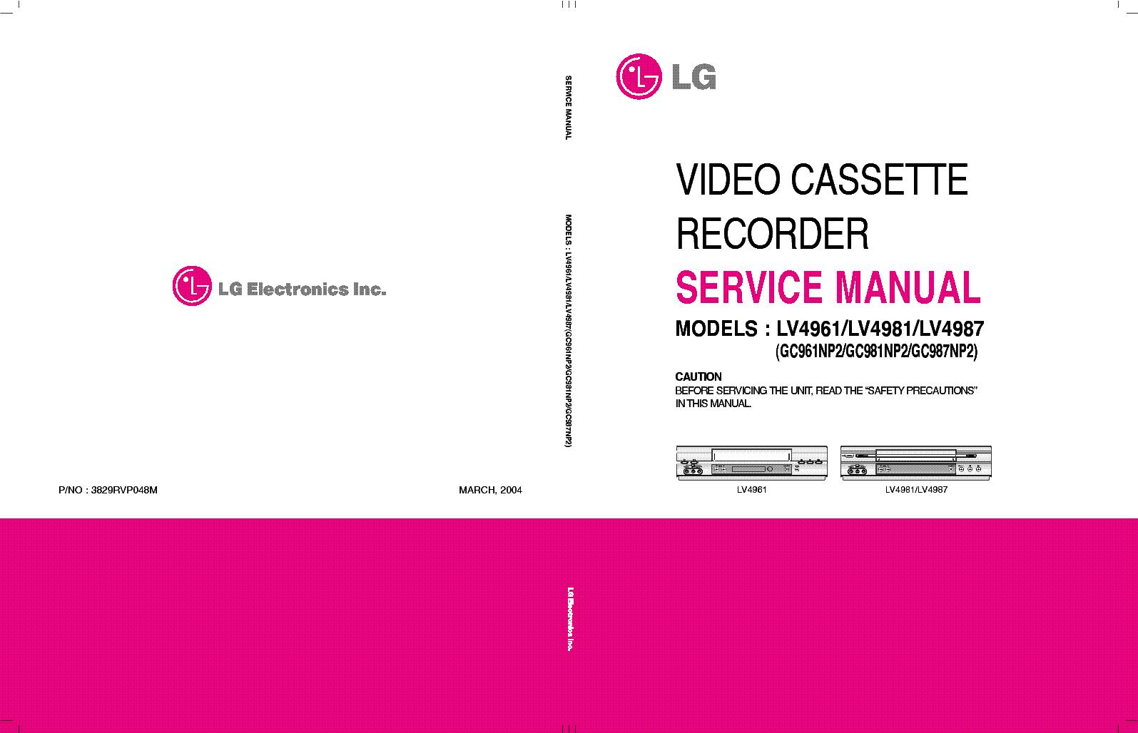lg goldstar lv4961 lv4981 lv4987 service manual download schematics rh elektrotanya com goldstar vcr user manual goldstar dvd vcr combo manual