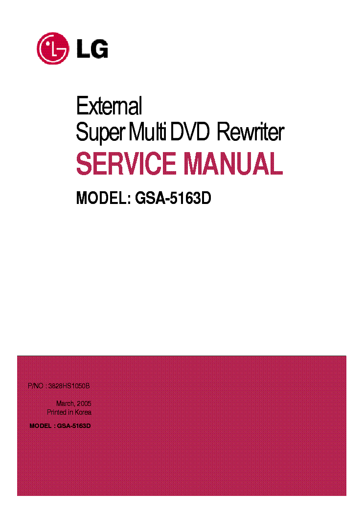 LG GSA-5163D Drivers for Windows Mac