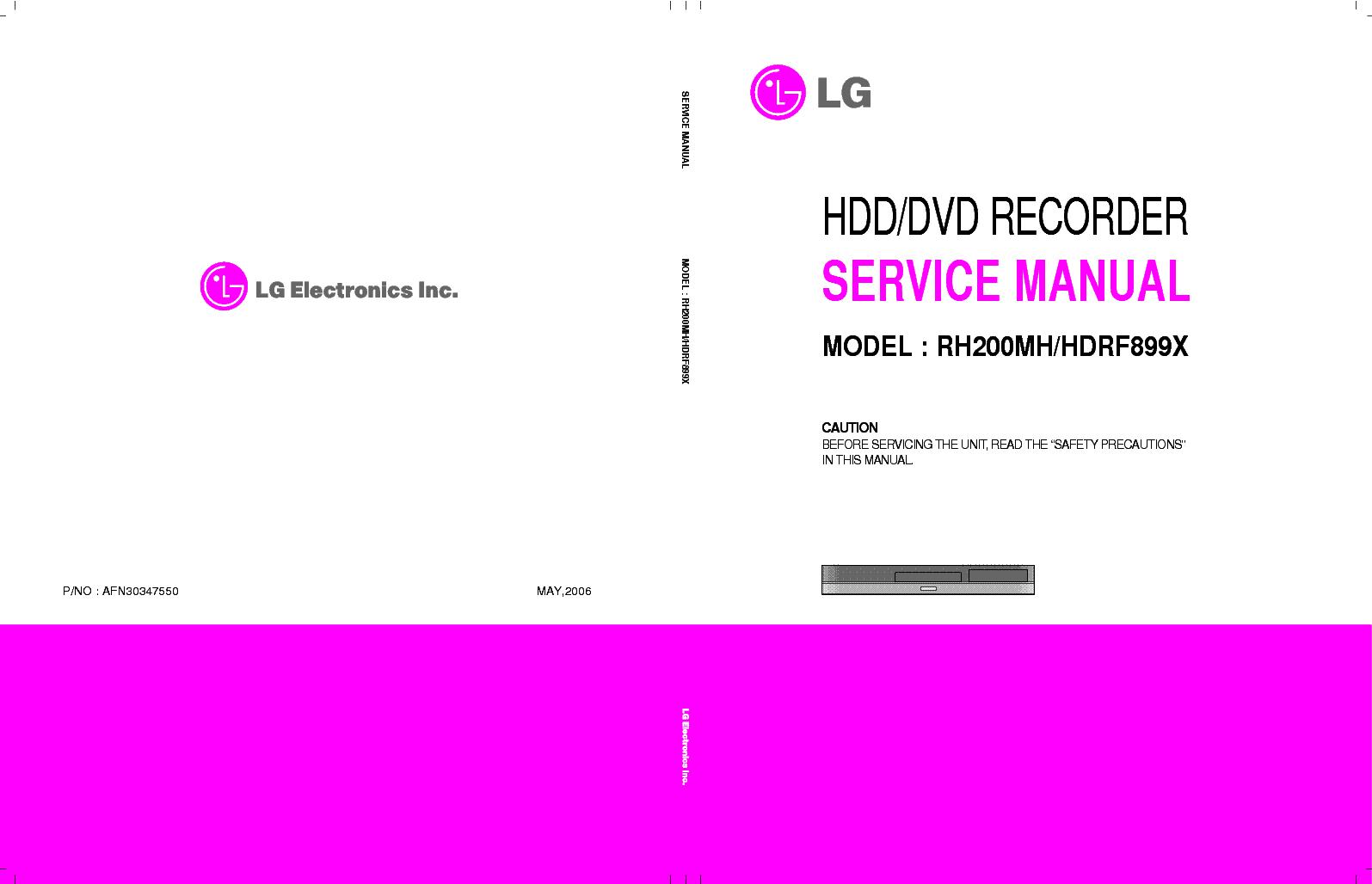 Lg rc388 service manual.