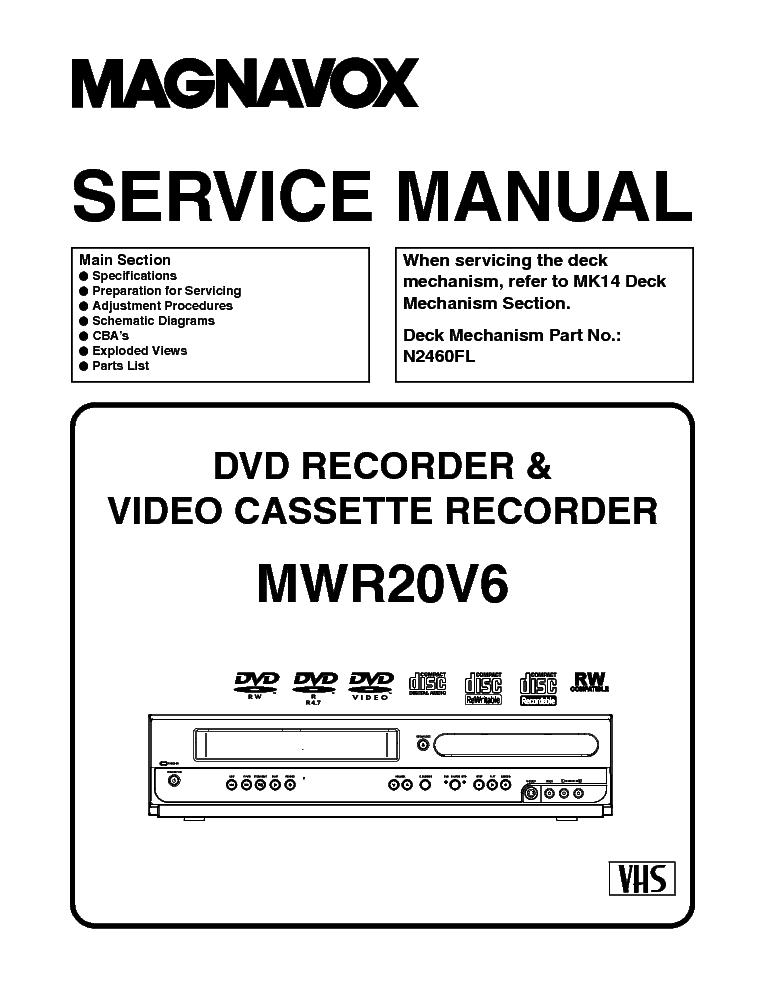 Magnavox Dvd Vcr Wiring Diagram - Wiring Diagram Sample on