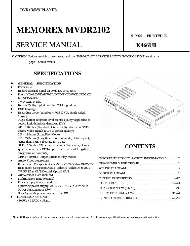 Amazing Memorex Wiring Diagram Box Wiring Diagram Wiring 101 Carnhateforg